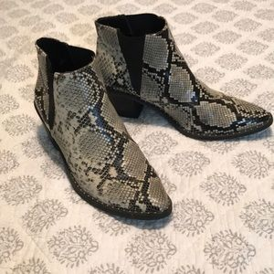 Universal Thread Faux Snakeskin Booties